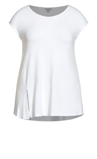 Split Front Top - white