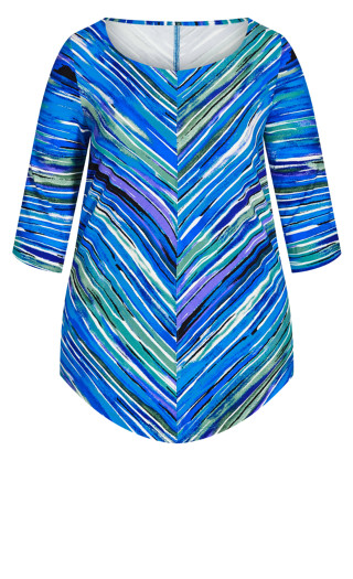 Paint Point Front Tunic - blue