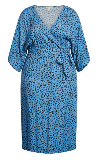 Day Date Print Maxi Dress - blue animal