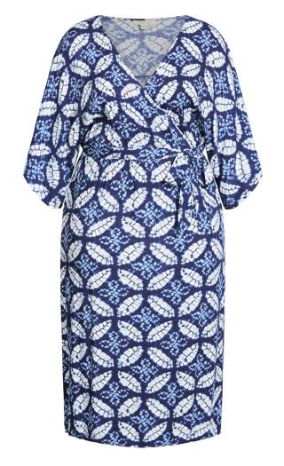 Day Date Print Maxi Dress - sapphire