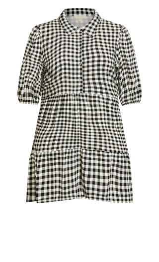 Majesty Mini Dress - gingham
