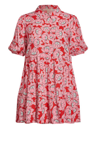 Majesty Mini Dress - pink floral