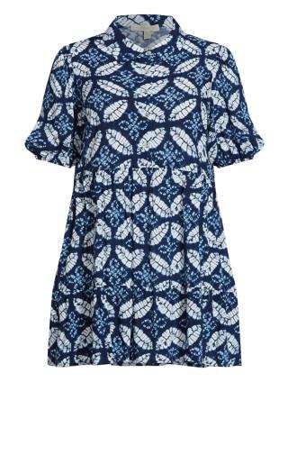 Majesty Mini Dress - sapphire
