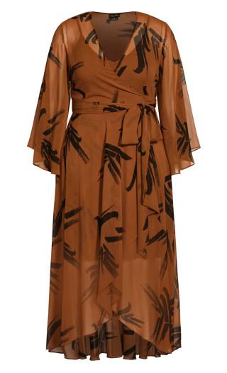Fleetwood Swish Maxi Dress - cognac