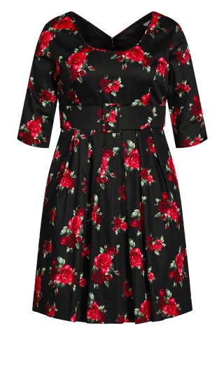Miss Vintage Dress - black