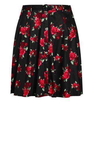 Vintage Rose Skirt - black