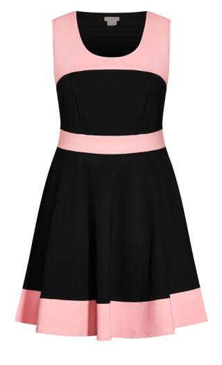 Retro Splice Dress - rose