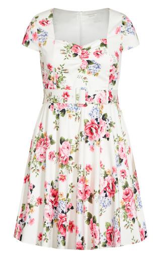 Sweet Vintage Dress - ivory