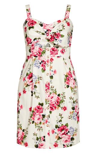 Sweet Retro Dress - ivory