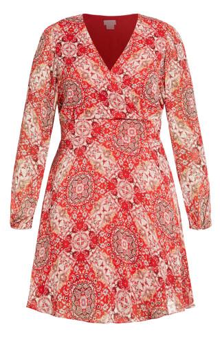 Folklore Dress - rouge