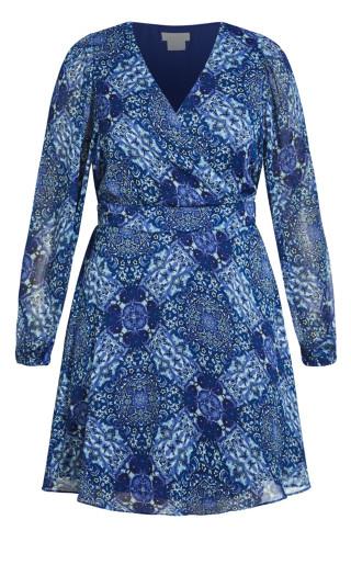 Folklore Dress - sapphire
