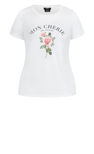 French Rose Tee - ivory