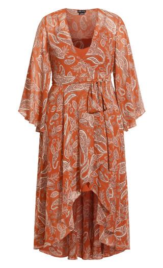 Paisley Lust Maxi Dress - copper