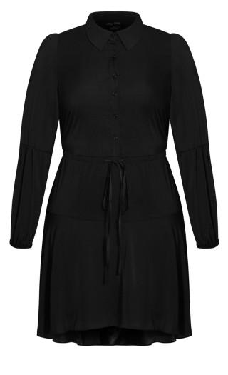 Flounce Dress - black