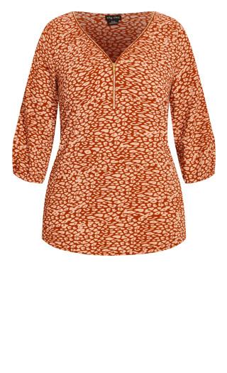 Leopard Lust Top - copper