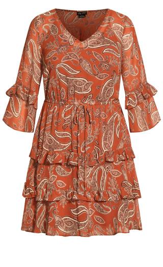 Paisley Lust Dress - copper