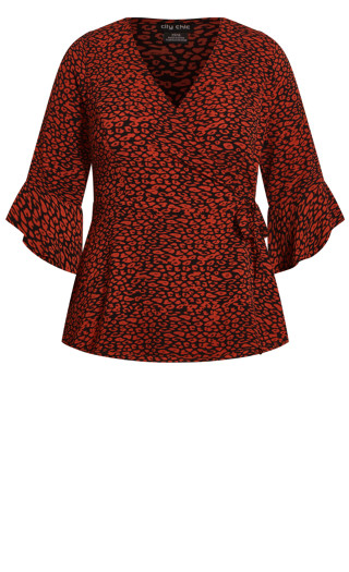 Leopard Top - black