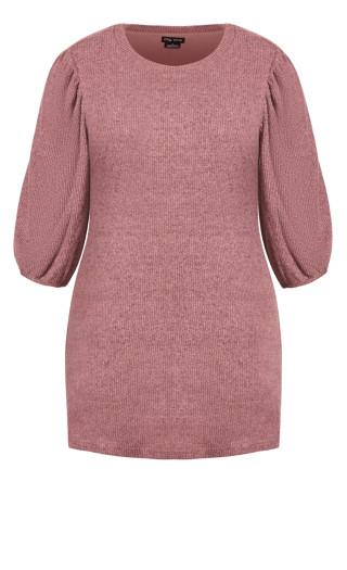 Cosy Knit Dress - rose