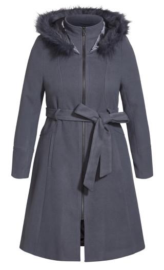 Miss Mysterious Coat - slate