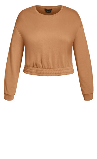 Lounger Sweat Top - biscuit