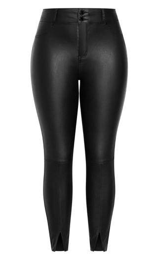 Wetlook Split Jean - black