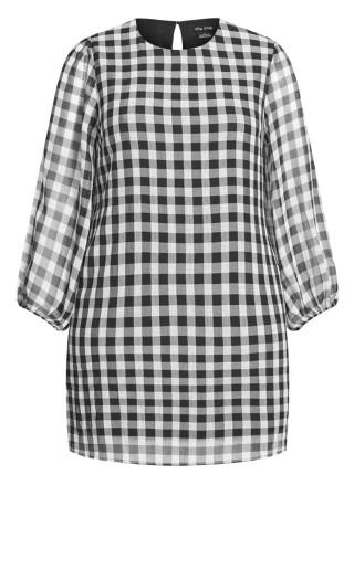 Sweet Check Dress - grey
