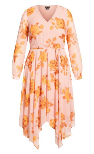 Gold Rose Maxi Dress - pink