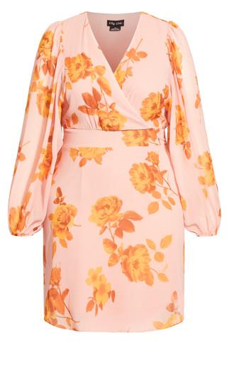 Gold Rose Dress - gold rose