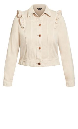 Sweet Denim Jacket - stone