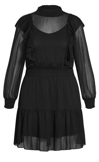 Sweet Rose Dress - black