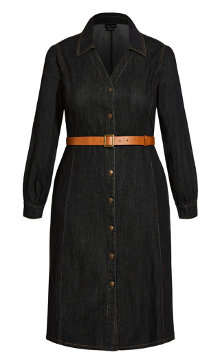 Midnight Denim Dress - black