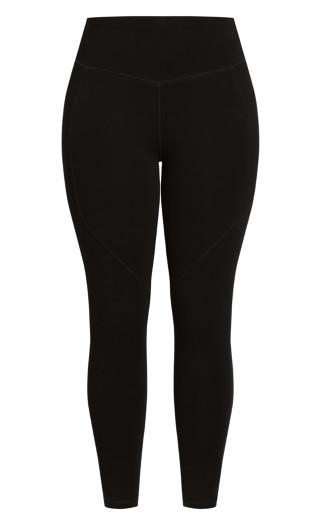 Scrunch Full Length Legging - black