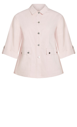 Marcia Pockets Jacket - blush