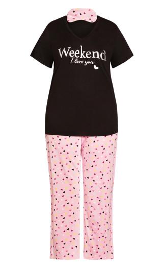 3 Piece Sleep Set - pink