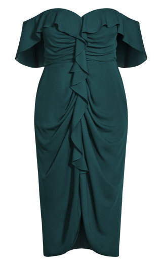 Va Va Voom Dress - emerald