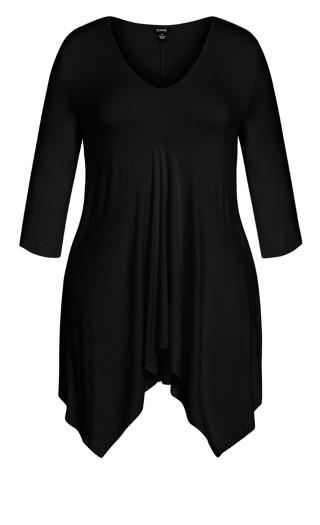 Enley Plain Tunic - black
