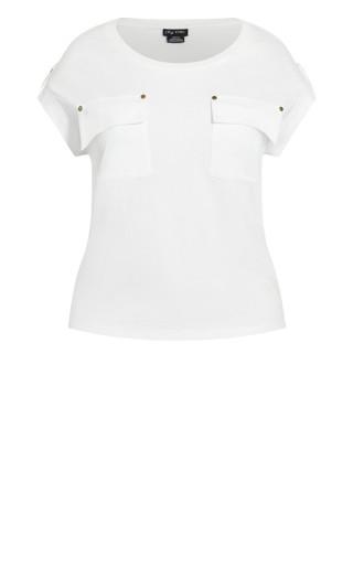 Military Tee - white