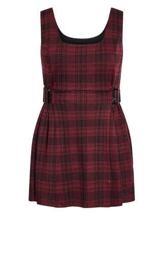 Pini Check In Dress - red
