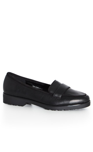 EXTRA WIDE FIT Donna Flat Shoe - black