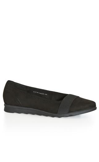 Doris Flat Shoe - black