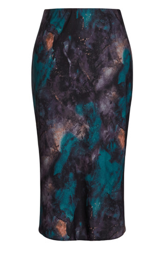 Exotic Surface Skirt - teal