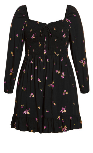 Paris Garden Dress - black