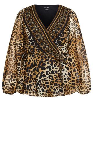 Leopard Evoke Top - gold