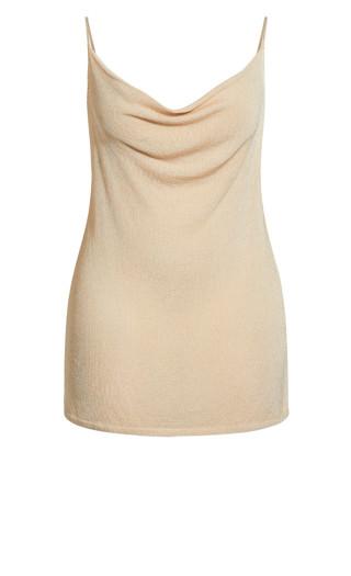 Shimmer Cowl Neck Top - ivory