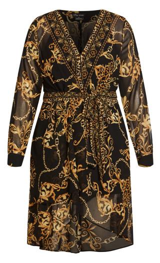 Luxe Flutter Dress - black