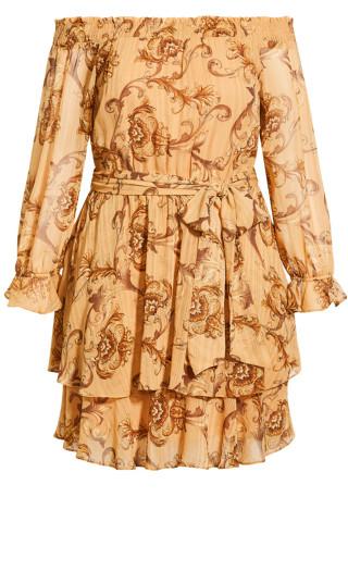 Evangeline Dress - bronze