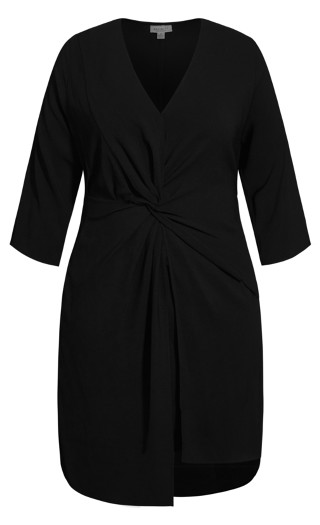 Chic Knot Dress - black