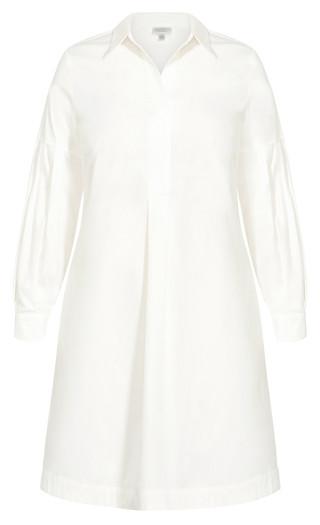 Chic Shirt Dress - ivory