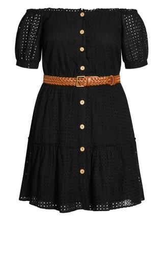 Sicilian Dress - black