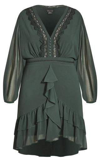 Sweet Sunset Dress - olive